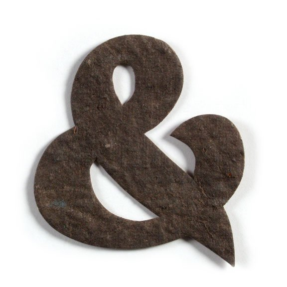Seed Paper Shape Ampersand - Coffee Brown