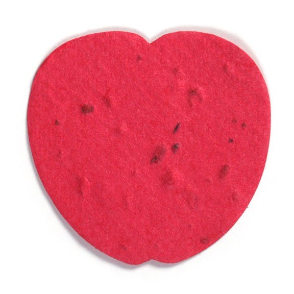 Seed Paper Shape Apple - Cranberry Red