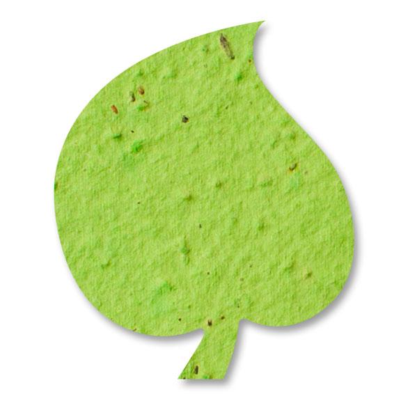 Seed Paper Shape Aspen Leaf 3 - Lime Green