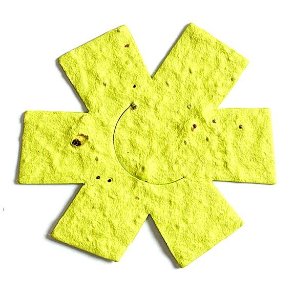 Seed Paper Shape Asterisk - Yellow
