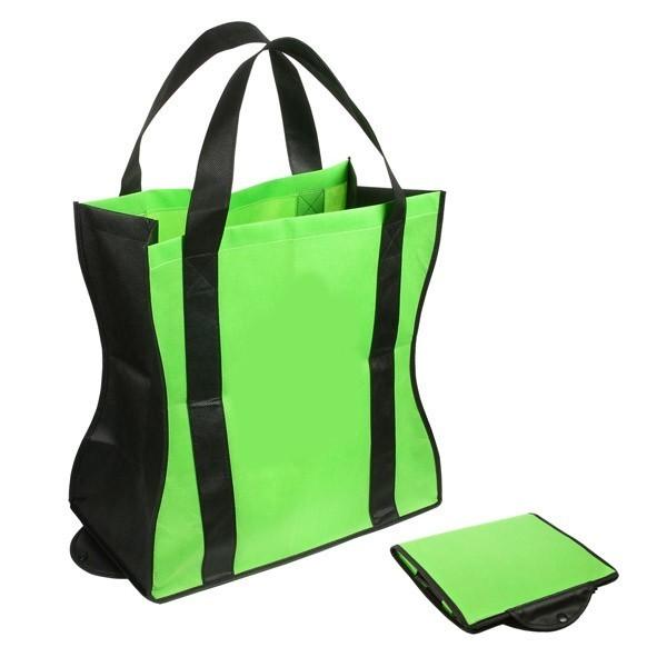 803bb462a3f Custom Folding Tote Bags - Black · Custom Folding Tote Bags - Lime Green ...