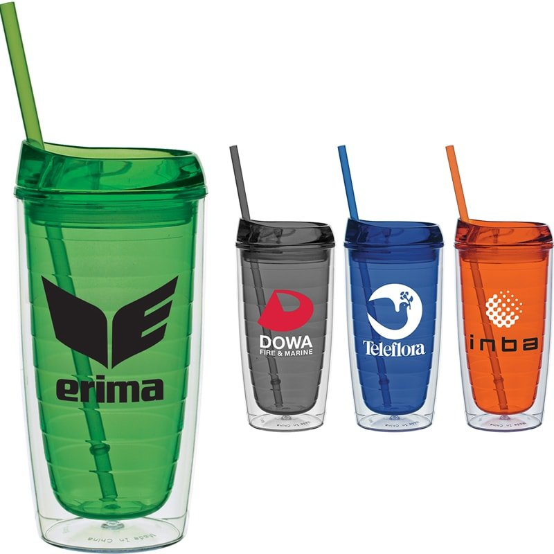 customized giveaway plastic tumblers reusable travel cups