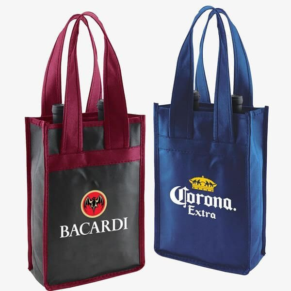 2-Bottle Recycled Wine Bags