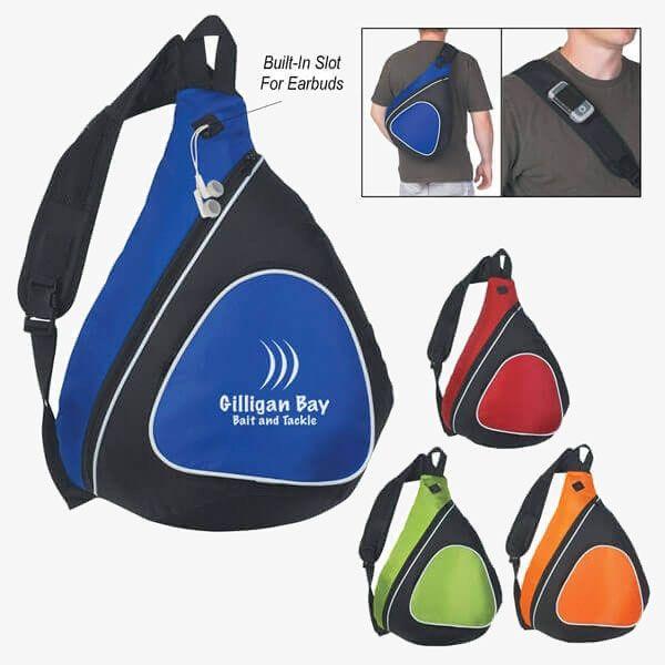 Imprinted Side Sling Eco-Backpacks