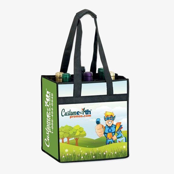 Custom 6-Bottle Wine Bags