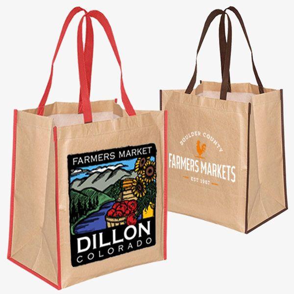 Custom Recycled Grocery Brown Bags