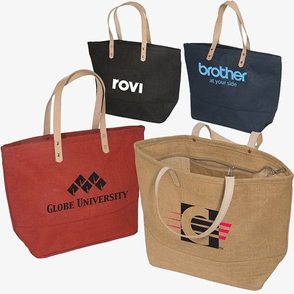 Eco-Friendly Jute Convention Totes