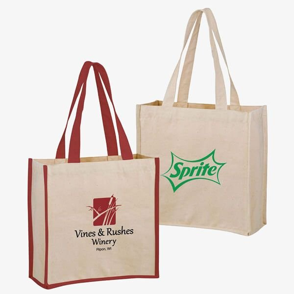 Heavyweight Promotional 2-Bottle Cotton Tote