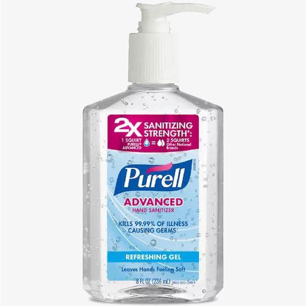 8 oz Pump Purell Sanitizer