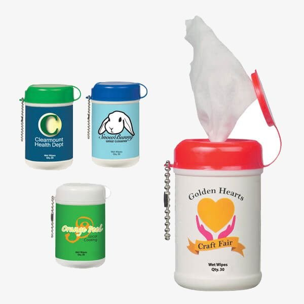 Mini Sanitary Wipes Container