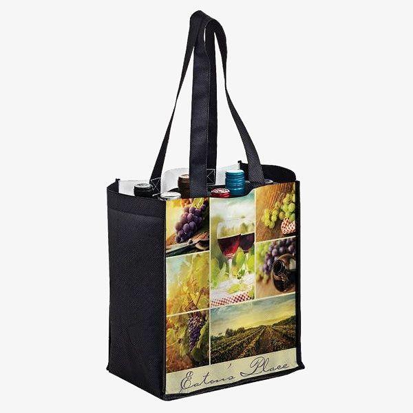 PET Eco Friendly 6-Bottle Wine Bags