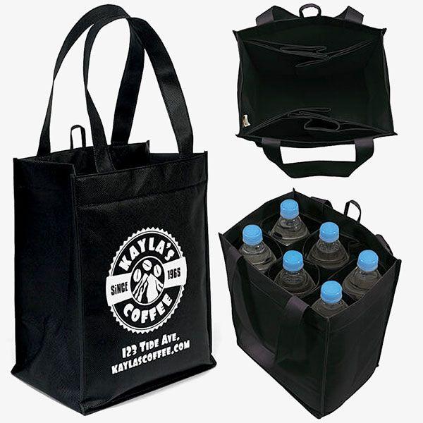 Reusable 6-Slot Wine Bags