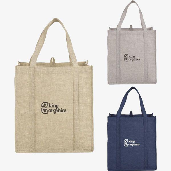 Reusable Jute Monster Grocery Bags