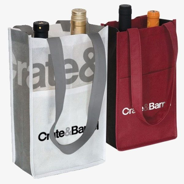 Reusable 2-Bottle Recycled Wine Bags