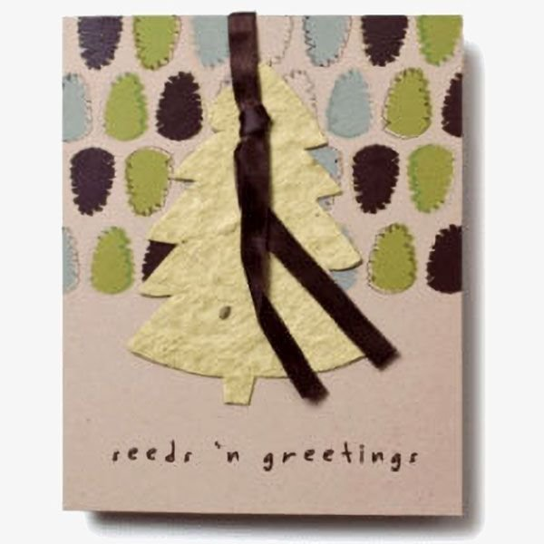 Seed Paper Ornament Folding Cards