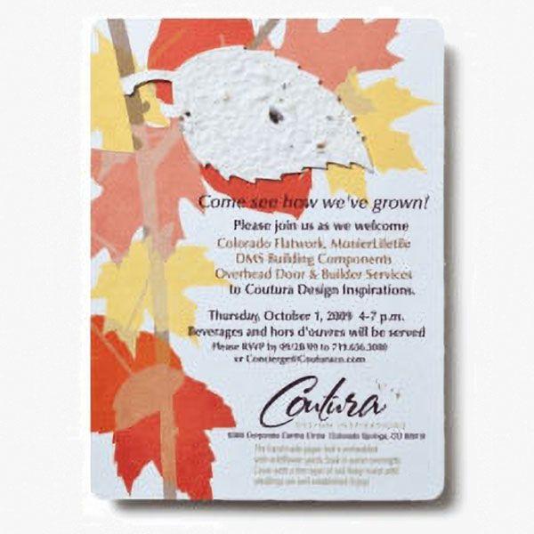 Seed Paper Shape Invitations