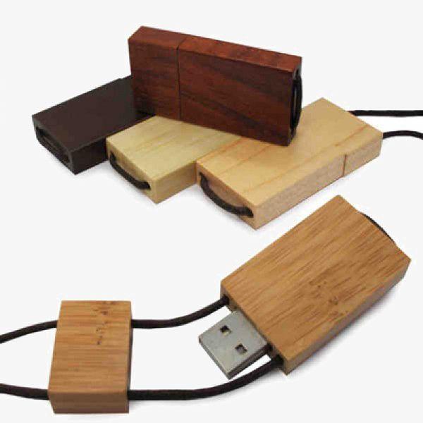 Bamboo Lanyard USB Flash Drives