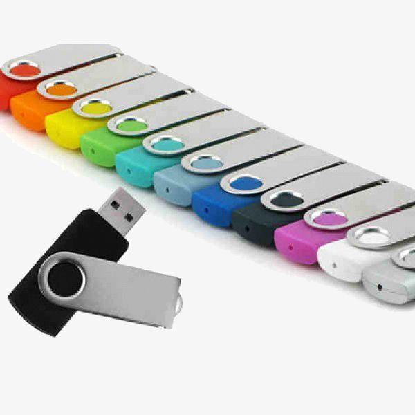 Imprinted Swivel USB Storage Drives