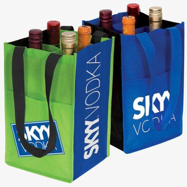 Wholesale Custom 4-Bottle Wine Bags