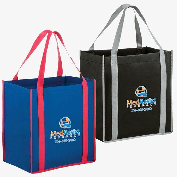 Wholesale Two-Tone Reusable Non-Woven Bags