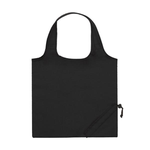 b0e4b968f0c6 Eco-Friendly Folding Tote Bags - Black ...