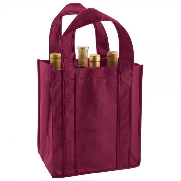 Recycled Custom 6 Bottle Wine Totes Merlot