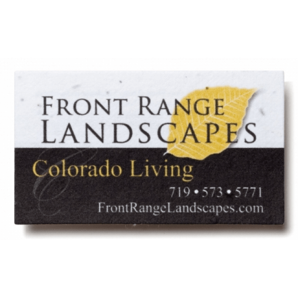 Seed paper business cards plantable seed paper cards seed paper business card front range landscapes colourmoves