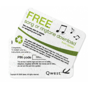 Seed paper download cards promo code giveaway cards seed paper download card colourmoves