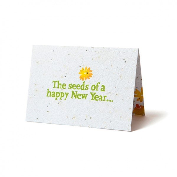seed paper folding card new year