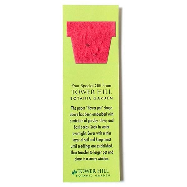 seed paper value shape bookmark pot