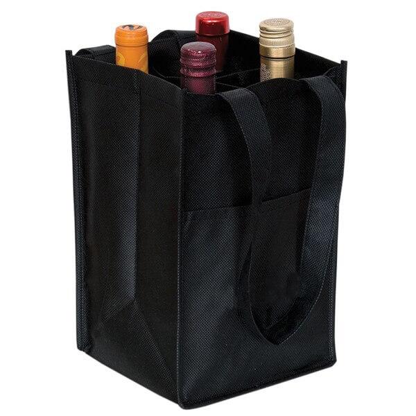Wholesale Custom 4 Bottle Wine Bags Wholesale Wine Totes