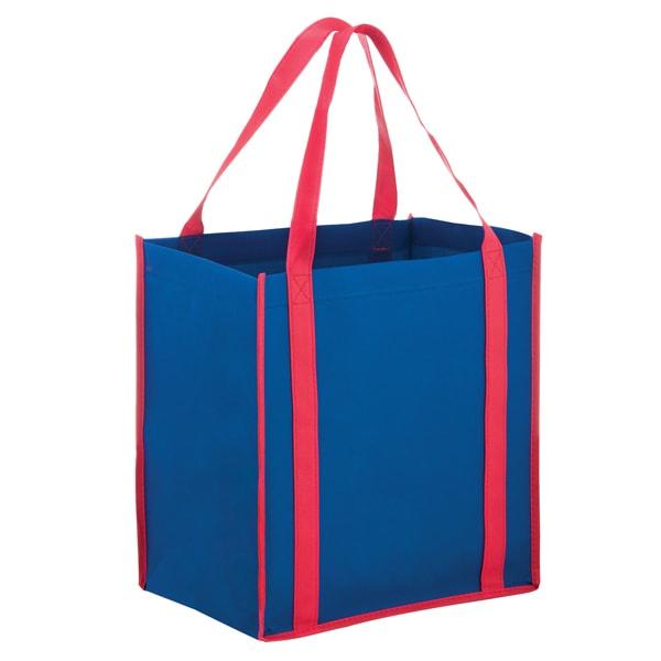 27db714ba3b0 ... Wholesale Two-Tone Reusable Non-Woven Bags - Royal Blue Red ...
