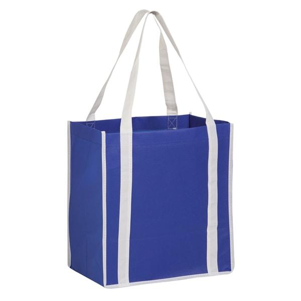 084cca62231e ... Wholesale Two-Tone Reusable Non-Woven Bags - Royal Blue White