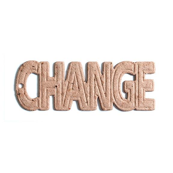 Seed Paper Shape Change Debossed - Natural Brown
