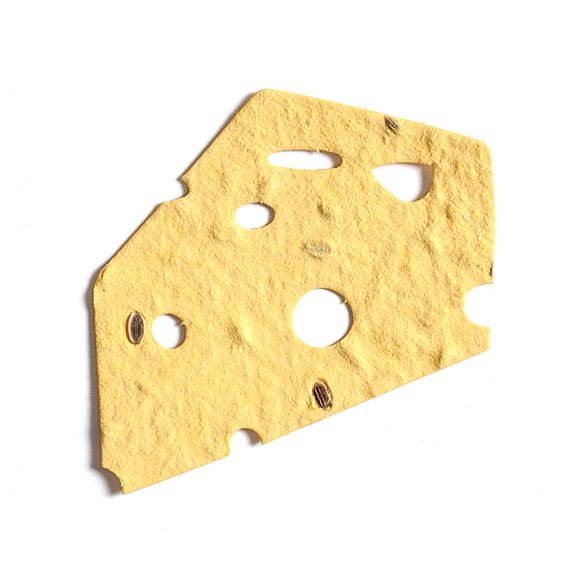 Seed Paper Shape Cheese - Light Yellow