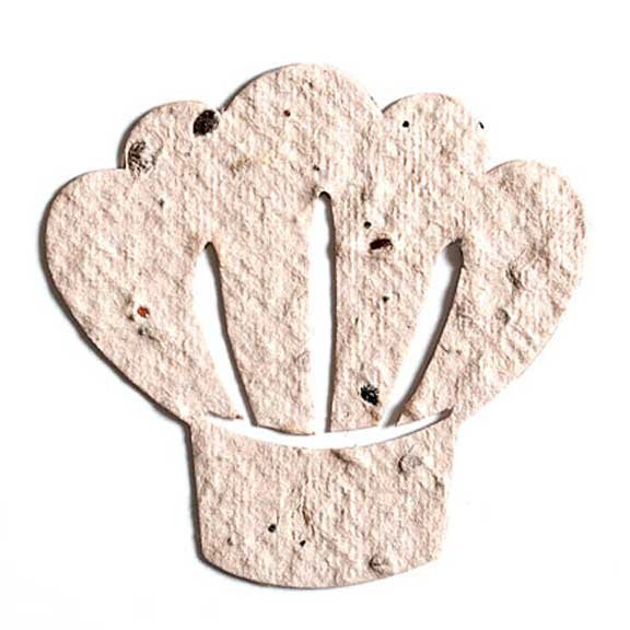 Seed Paper Shape Chef's Hat - White