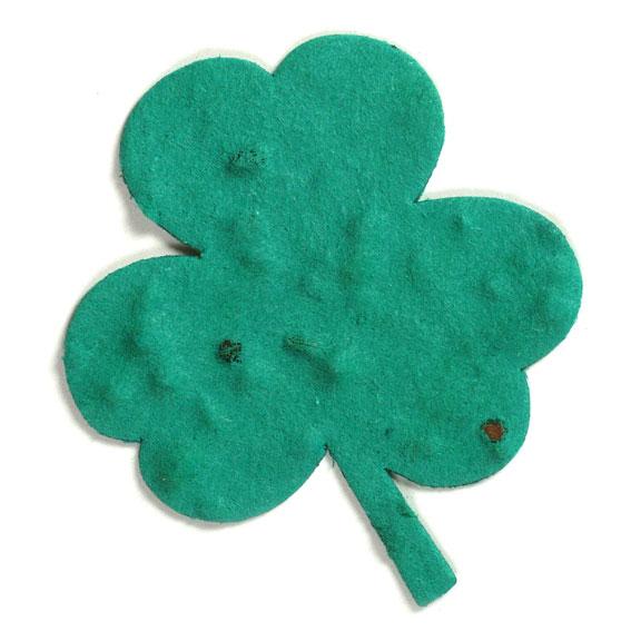 Seed Paper Shape Clover Leaf 1 - Forest Green