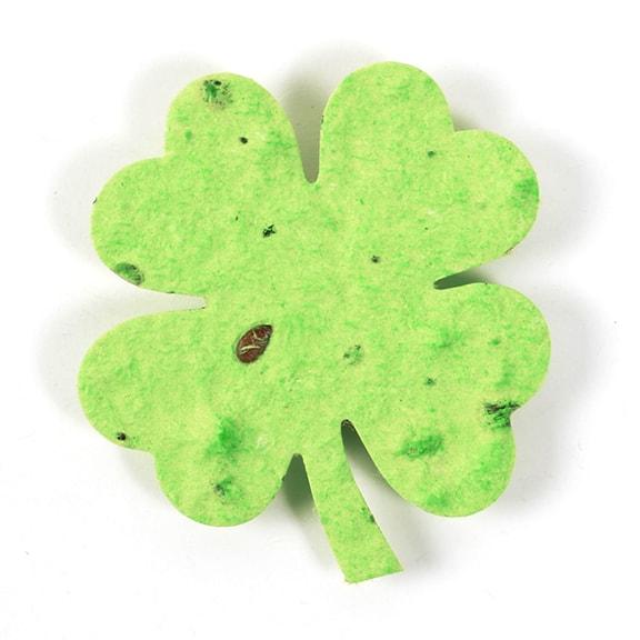 Seed Paper Shape Clover Leaf 2 - Lime Green