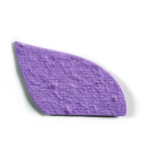 Seed Paper Shape Cut Leaf - Violet