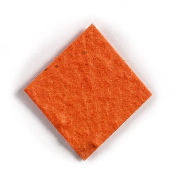 Seed Paper Shape Diamond - Orange