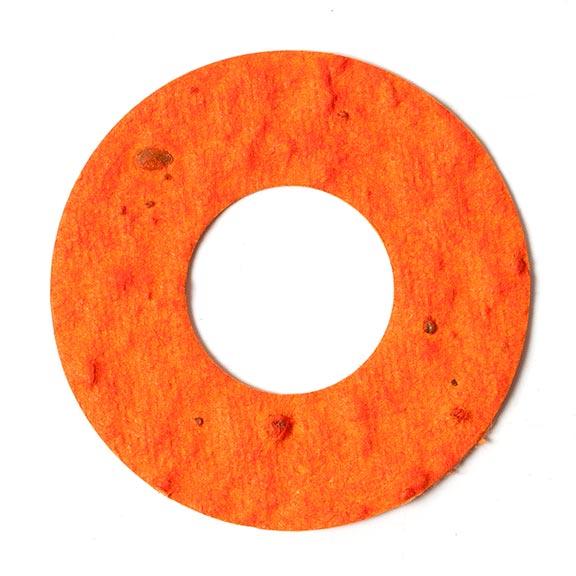 Seed Paper Shape Donut - Orange