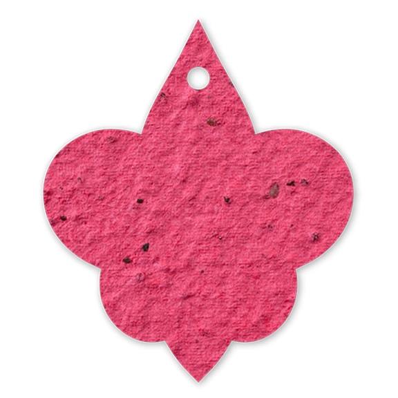 Seed Paper Shape Fleur de Lis 2 - Cranberry Red