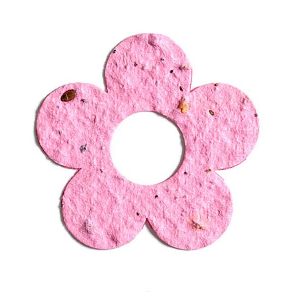 Seed Paper Shape Flower 10 - Pink