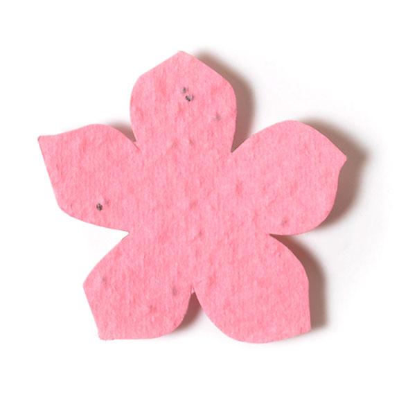 Seed Paper Shape Flower 14 - Pink