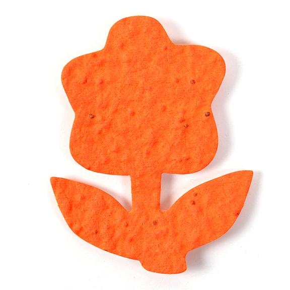 Seed Paper Shape Flower 15 - Orange