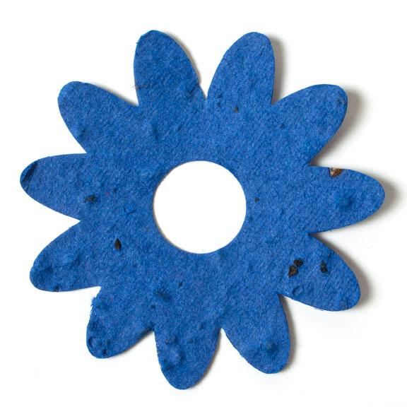 Seed Paper Shape Flower 4 - Royal Blue
