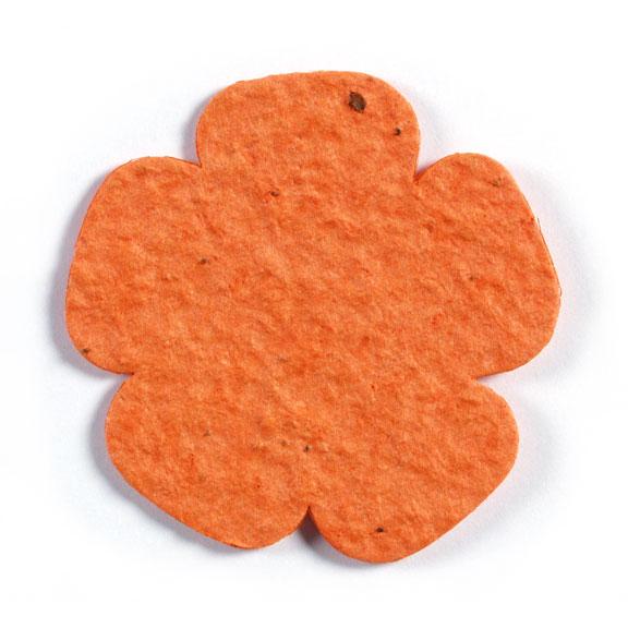 Seed Paper Shape Flower 7 - Orange