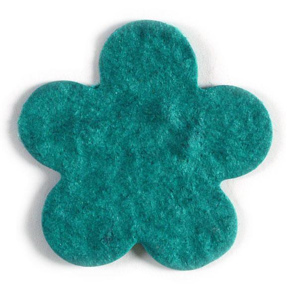 Seed Paper Shape Flower 8 - Teal Blue