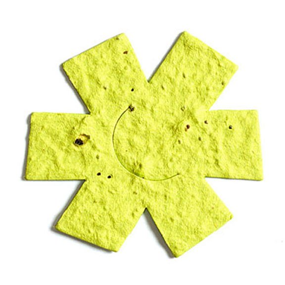 Seed Paper Shape Flower 9 - Yellow