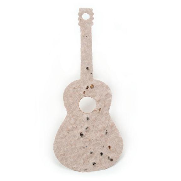 Seed Paper Shape Guitar - Natural Brown